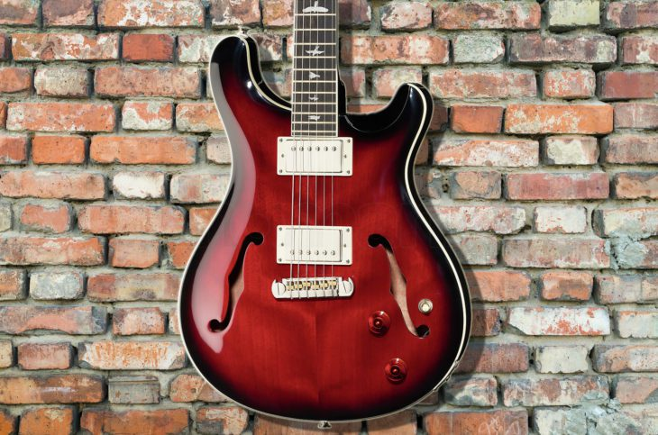 PRS SE Hollowbody FR Fire Red E-Gitarre