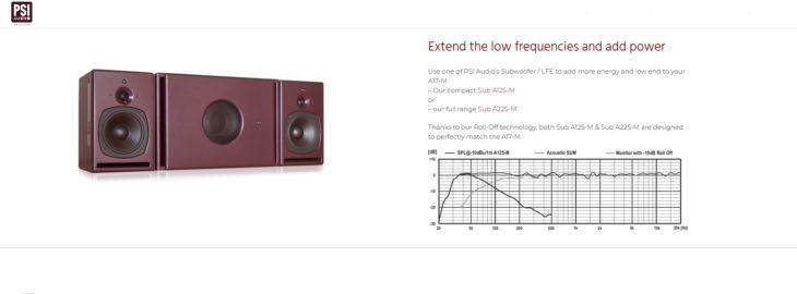 PSI Audio, A17-M Studio Red mit Subwoofer (nicht im Test)
