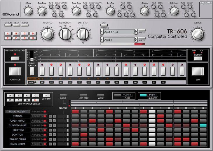 roland tr-606 software rhythm composer