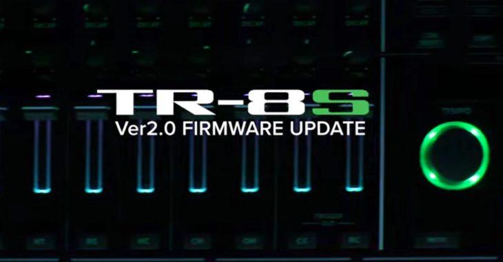 roland tr-8s firmware 2.0 drum machine
