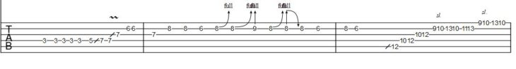 Gitarrensolo Rosanna Tab 1