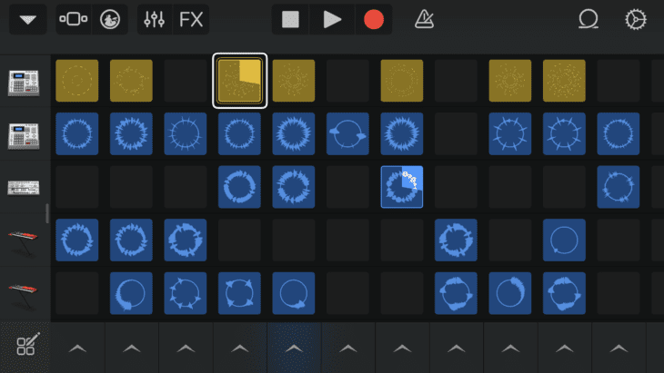 Screenshot Garage Band