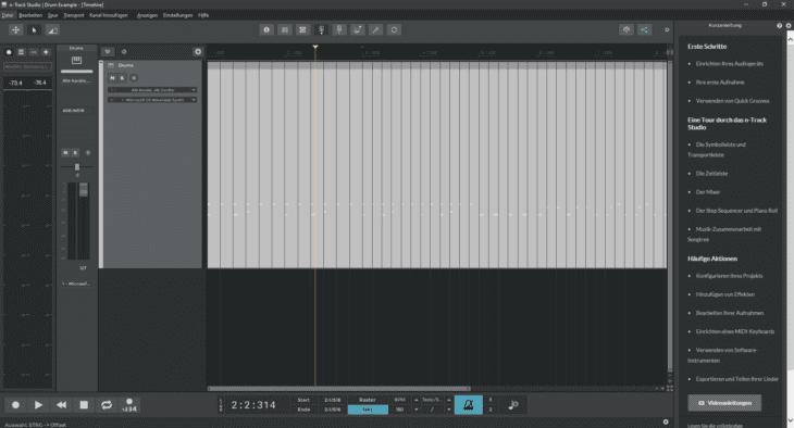 Screenshot n-Track Studio Drum Sample