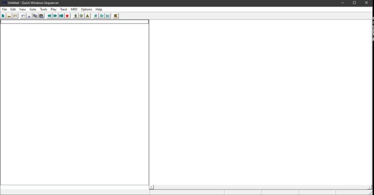 Screenshot QWS - Quick MIDI Sequencer