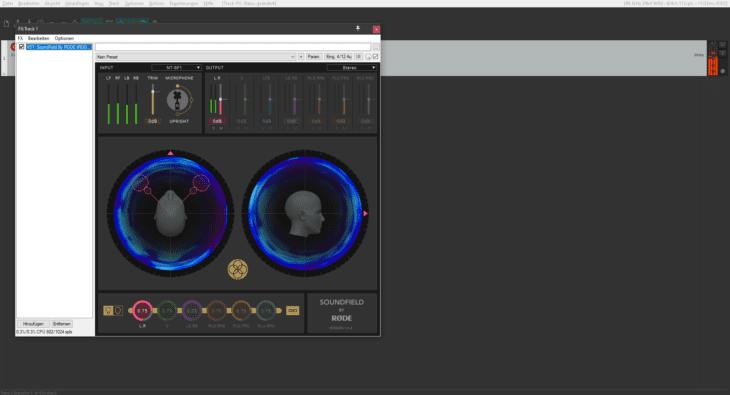 Screenshot RODE SoundField-PlugIn