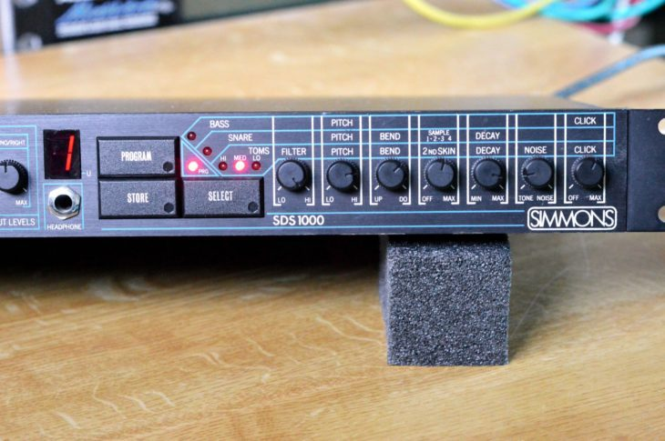 Klangparamter der Drum-Sounds des Simmons SDS-1000