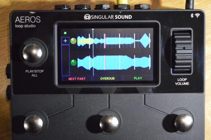 Der 2x2-Modus des SingularSound AEROS Loop Studio ist intuitiv und leicht zu bedienen