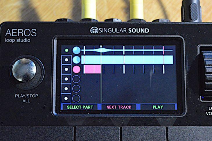Durch Druck auf Next Track schließt man die Aufnahme im aktuellen Track ab und beginnt sie im nächsten