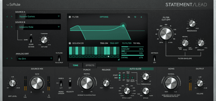 Softube Statement Lead Synthesizer Plugin