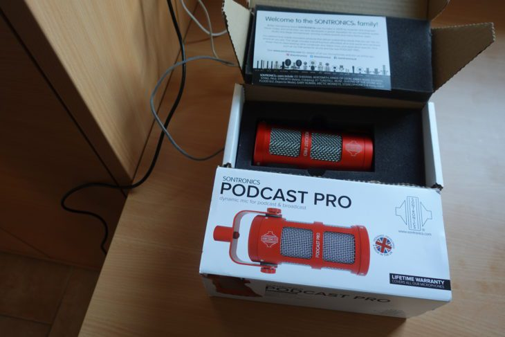 Sontronics Podcast Pro Verpackung