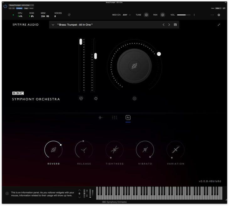 spitfire audio bbc symphony orchestra gui