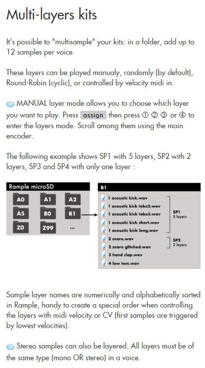 Squarp Instruments Rample Herstellerbild Handbuch Manual Multilayer Samplekits