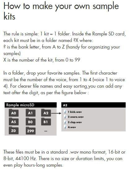 Squarp Instruments Rample Herstellerbild Handbuch Manual Sampleverwaltung