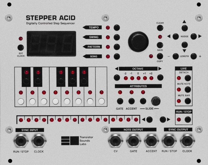Stepper Acid Transistor Sounds Labs Herstllerbild Frontansicht 2