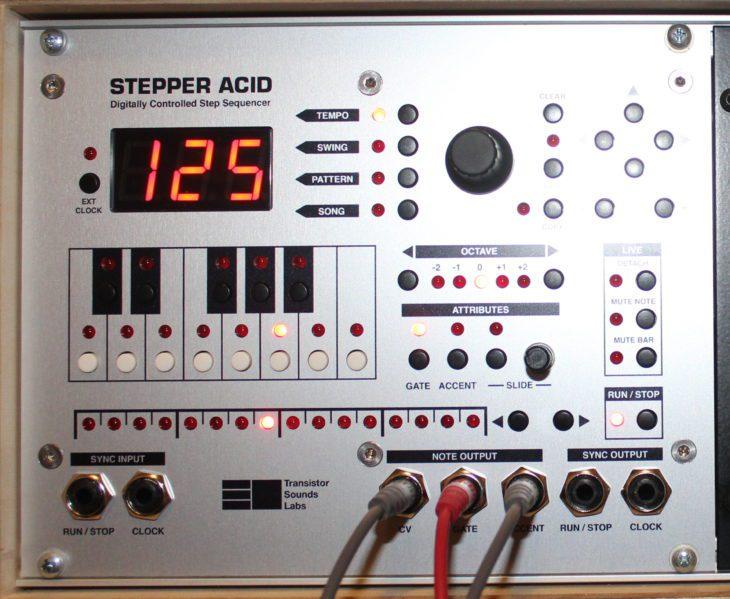 Stepper Acid Transistor Sounds Labs Userbild Modul im Case