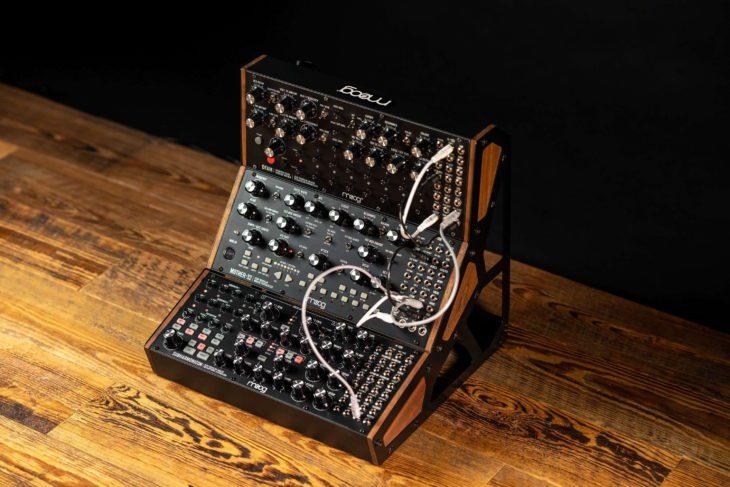 Moog-Rack, zusammen mit den Rocks Mother-32 und DFAM