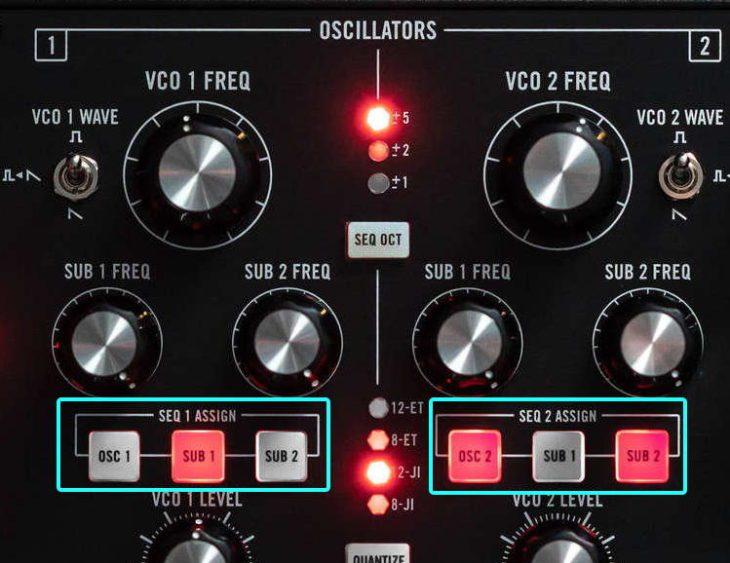 Moog Subharmonicon - Modulation der Tonhöhen durch die Sequenzer