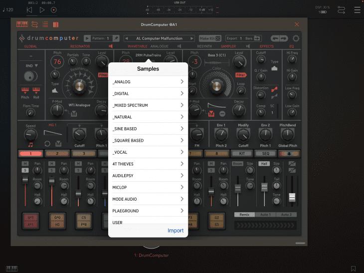 Sugar Bytes Drumcomputer, Sequenzer & Synthesizer iOS