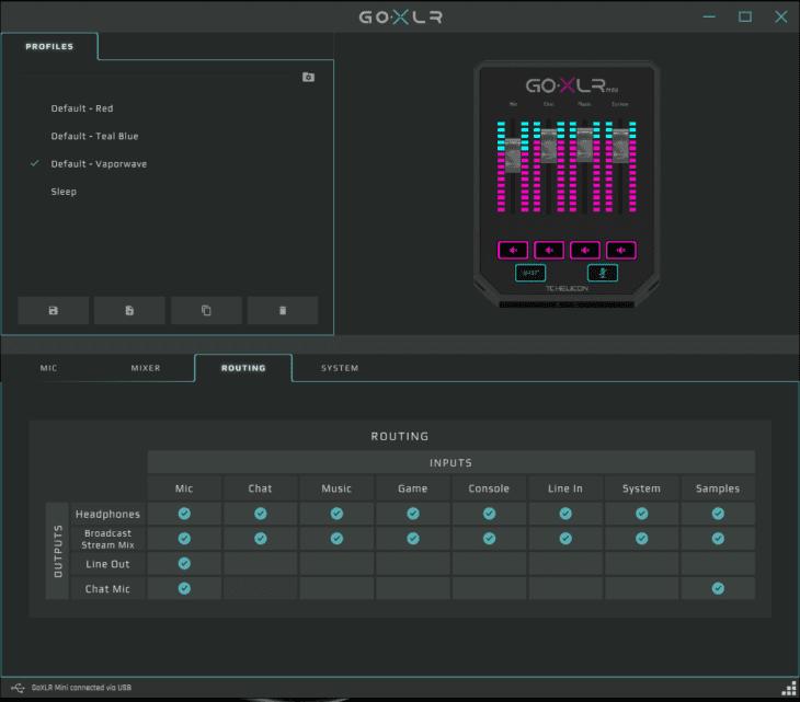 TC Helicon GO XLR MINI App Mixer