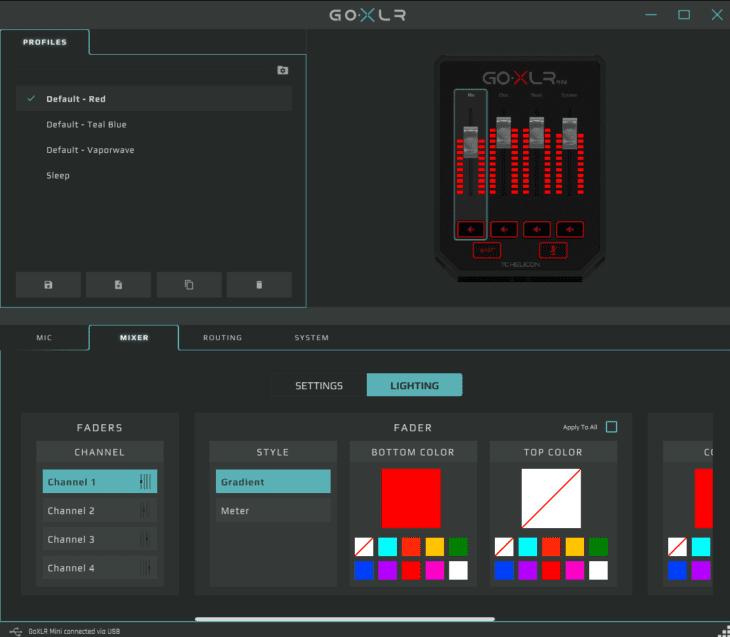 TC Helicon GO XLR MINI App Routing