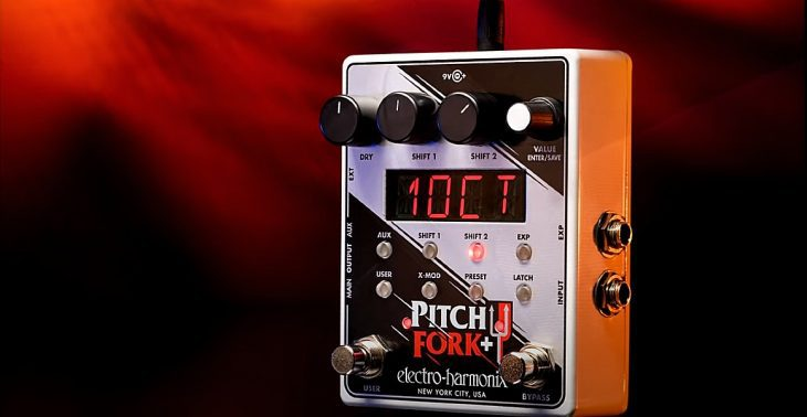 Test EHX Pitchfork Plus Gitarrenpedal
