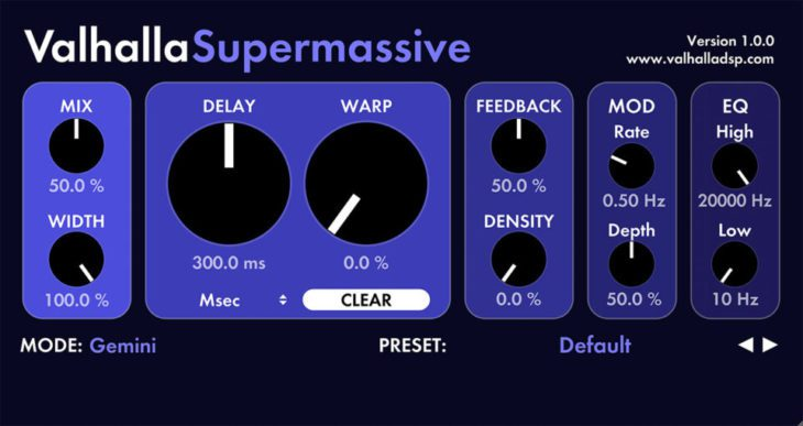 valhalla dsp supermassive freeware