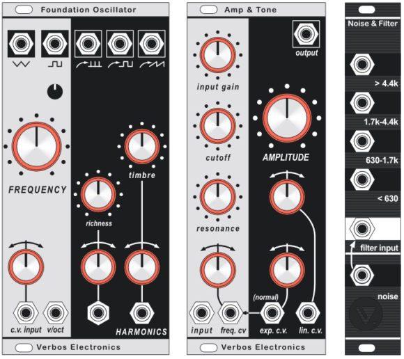 Verbos Electronics Foundation Oscillator, Amp & Tone, Noise & Filter