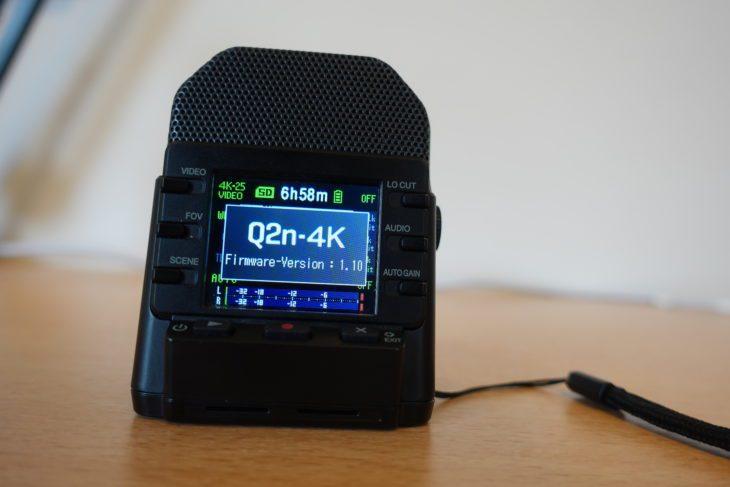 Zoom Q2n-4K Start Screen