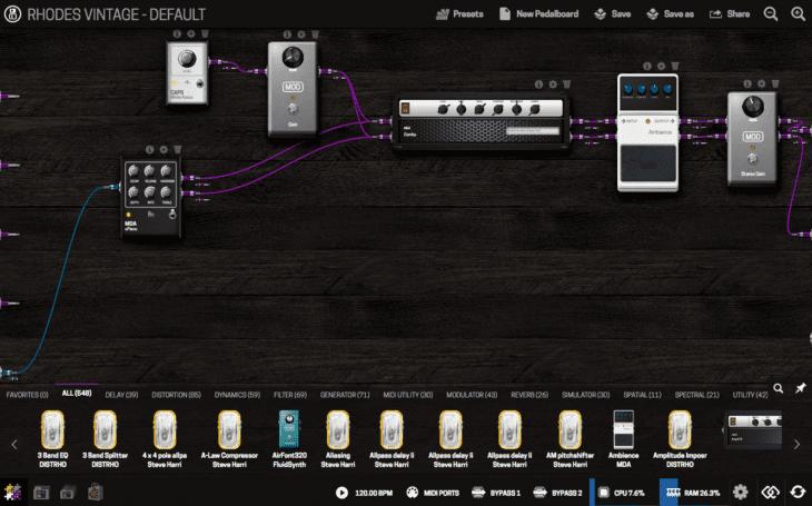 Zynthian Open Sound Plattform - MOD-UI Pedalboard