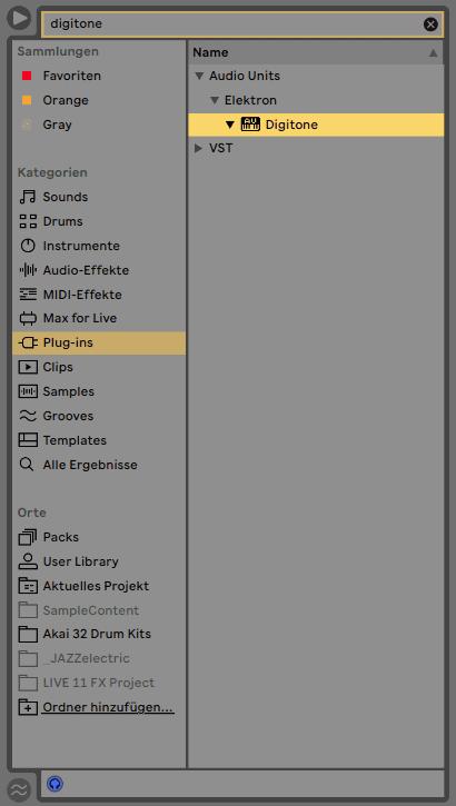 Elektron Overbridge 2.0 - Live Digitone im Browser suchen