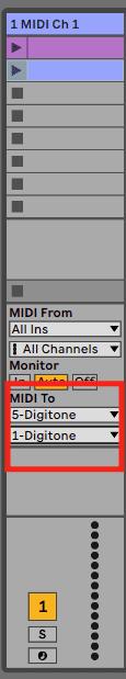 Live MIDI To einstellen