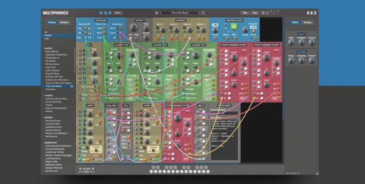 aas multiphonics cv-1 software modular synthesizer plugin