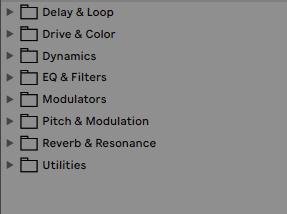 Ableton Live 11 - Audio Effekte nach Kategorien
