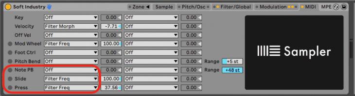 Ableton Live 11 - Ableton Sampler versteht nuun auch MPE