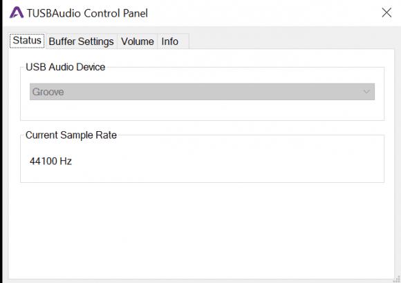 Apogee Groove Control Panel