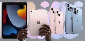 iPad 9, iPad mini 6, iPhone 13, 13 mini, 13 Pro, 13 Pro Max, Apple Herbst 2021