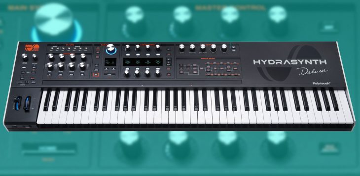 asm hydrasynth deluxe synthesizer keyboard front