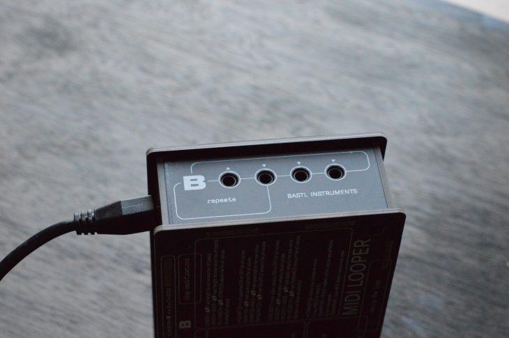 Bastl MIDI Looper - Seitliche Anschlüsse