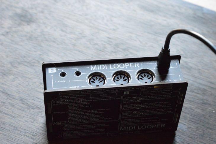 Bastl MIDI Looper - Stirnseite