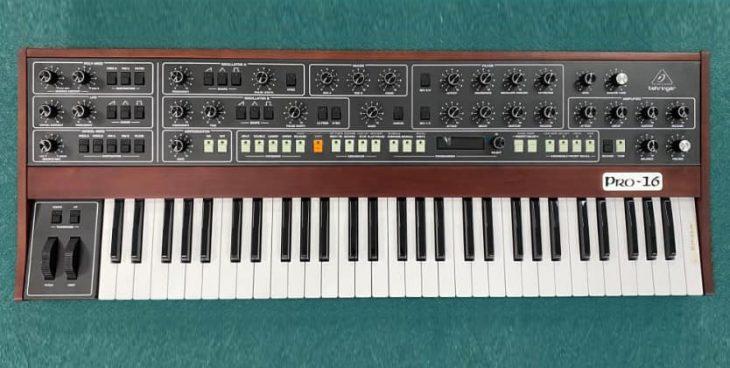 behringer pro-16 synthesizer prophet-5 clone