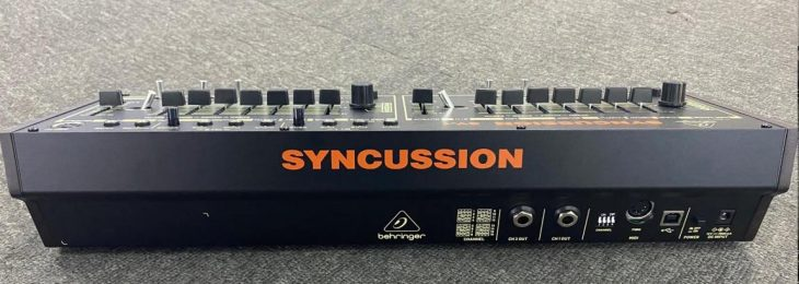 behringer syncussion sy-1 drum synthesizer rear