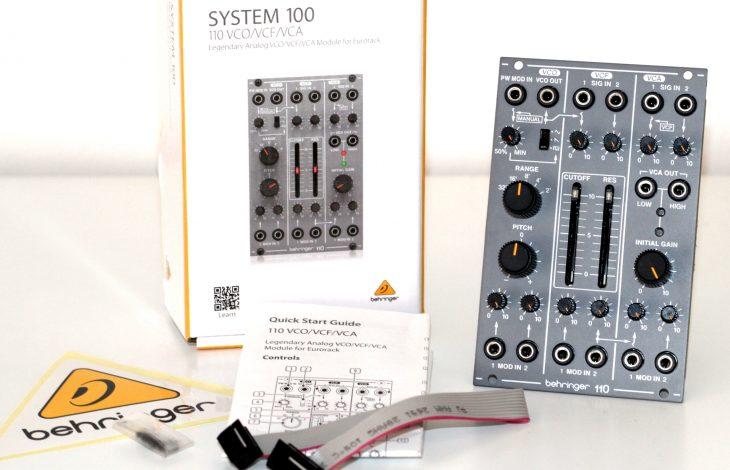 Behringer System 100 Behringer 110 VCO VCF VCA Synth Voice Userbild Verpackungsinhalt ausgepackt
