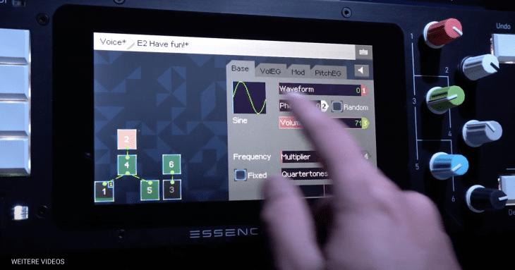 KODAMO EssenceFM, FM-Synthese am Touchscreen