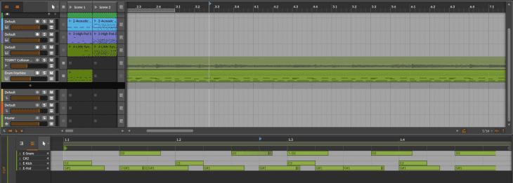 Bitwig Studio 4 - Clip Erweitern vorher