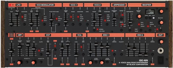 black corporation ise-nin roland jupiter-8 synthesizer