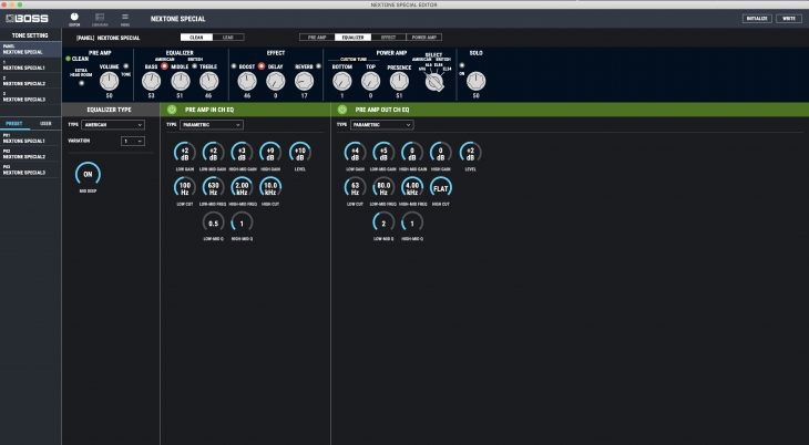 Test: BOSS Nextone Special Amp, Gitarrencombo