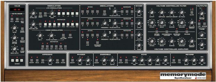 cherry audio memorymode synthesizer plugin moog