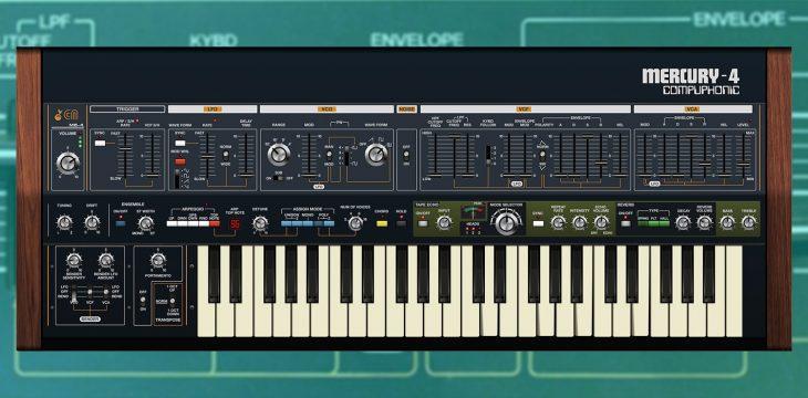cherry audio mercury-4 synthesizer plugin jupiter-4