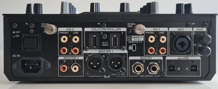 Die Anschlüsse beim Pioneer DJM-S11