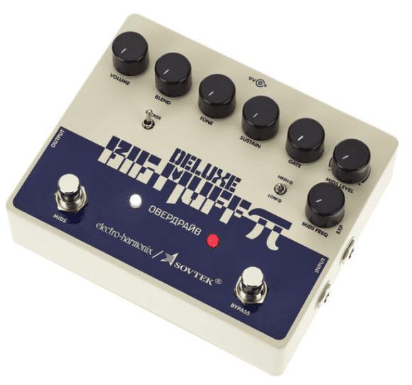 Electro Harmonix Sovtek Del. Big Muff Pi Fuzz, schräg